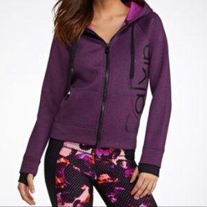Calvin Klein Purple scuba hooded sweatshirt jacket
